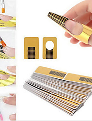 100PCS Nail Art Forms For Acrylic & UV Gel Tips Lengthen Paper Tray Tools