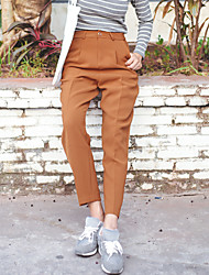 sinal chique coreano stovepipe meia-calça cintura estilo