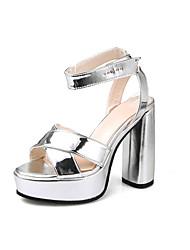 Women's Sandals Summer Fall Slingback PU Office & Career Party & Evening Dress Chunky Heel Magic Tape