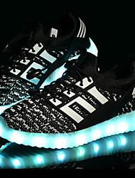 Chico Zapatillas de deporte Confort Primeros Pasos Zapatos con luz Tul Primavera Verano Otoño Deportivo Casual LED Tacón BajoNegro Azul
