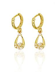 Women's Drop Earrings Imitation Diamond Unique Design Pendant Tag Heart Fashion Personalized Hypoallergenic Euramerican Zircon Rose Gold