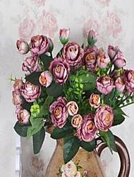 1 Une succursale Fibre Prune Fleur de Table Fleurs artificielles 30*30*30