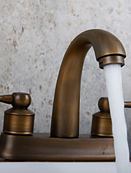 Contemporâneo Arte Deco/Retro Moderno Montagem em Plataforma Termostática Chuveiro Tipo Chuva Spray Amplo with  Vãlvula LatãoMonocomando
