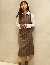 Corée achetant la robe de robe ouverte à un seul breuvage