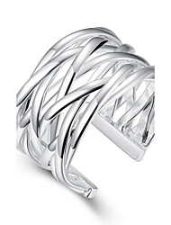Ring Silver Plated Ring Sterling-Silver-Jewelry Ring Factory prices Weaved Ring-Opened