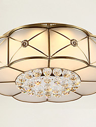 Full Copper  Crystal Ceiling Bedroom Living Room Crystal Ceiling Lamp C