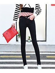 Sign spring Korean high waist stretch pants nine points jeans female feet was thin pencil pants trousers