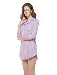 Sign striped shirt women new Korean long section of loose sleeve shirt sleeve tide wild