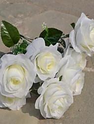 1 Ast Kunststoff Rosen Tisch-Blumen Künstliche Blumen 25*25*42