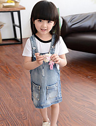 Girl's Solid Dress,Cotton Summer Spring Sleeveless