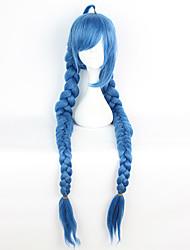 Pelucas de Cosplay Cosplay Cosplay Azul Extra largo Animé Pelucas de Cosplay 135 CM Fibra resistente al calor