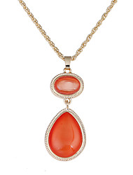 Lureme Hot Jewelry Witches of East End Orange Cateye Pendant Necklace for Women and Girls