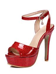 Mujer-Tacón Stiletto-Confort Tira en el Tobillo Zapatos del club-Sandalias-Boda Vestido Fiesta y Noche-Materiales Personalizados-Dorado