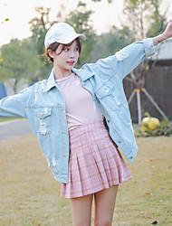 signer 17 nouveaux vêtements printemps denim trou marée coréenne femmes veste en jean