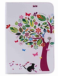 For Card Holder Wallet with Stand Auto Sleep/Wake Flip Pattern Case Full Body Case Tree Scenery Hard PU Leather for Apple iPad Mini 4 Mini 3/2/1