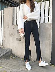 знак 2017 года новый корейский вариант загрузки вырезать джинсовой брюки перерезал края тонкий женский NETT