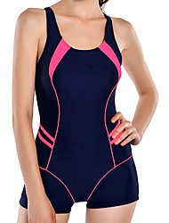 Women's Black  Sports  Tummy Control Tankini Swimsuit