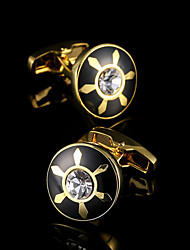 Luxury Gold Shirt Cufflinks for Mens Gift Brand Suit Sleeve Buttons Crystal Cuff link French Cufflinks Shirt Men's Cuffs Jewelry