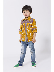 Casual/Daily Floral Shirt,Cotton Spring