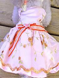 Собака Платья Одежда для собак Очаровательный Вышивка