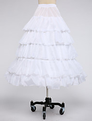 Slips Ball Gown Slip Tea-Length 5 Taffeta White Black Red