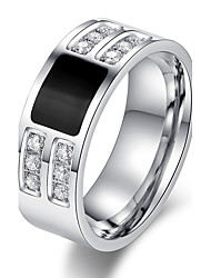 R-066 Men's High-grade Super Flash Cubic Zirconia Ring Stainless Steel Ring Wholesale Fashion Jewelry For Men