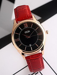 Women's Fashion Watch Japanese Quartz Water Resistant / Water Proof Genuine Leather Band Cool Casual Black Red Brown Black Brown Red