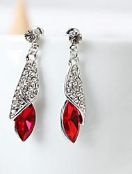 Teardrop Stud Earrings Jewelry Fashion Daily Alloy Rhinestone 1 pair
