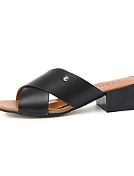 Women's Sandals Spring Summer Comfort PU Dress Casual Chunky Heel Block Heel Beading