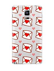 Pour Transparente Motif Coque Coque Arrière Coque Cœur Flexible PUT pour Samsung Note 5 Note 4 Note 3 Note 2