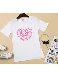Damen Druck Einfach Ausgehen T-shirt,Rundhalsausschnitt Sommer Kurzarm Baumwolle Dünn