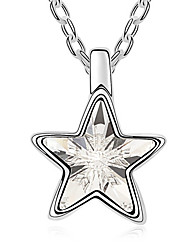 Women's Pendant Necklaces Crystal Star Chrome Unique Design Personalized Jewelry For Graduation Gift 1pc