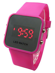 Damen Smart Uhr Quartz Silikon Band Bequem Blau Rot Rose