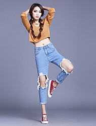 The official website of the same paragraph Korean version of harem pants hole beggar loose jeans female bf wind was thin nine feet pants
