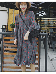 Sign Small floral five-pointed star long-sleeved dress