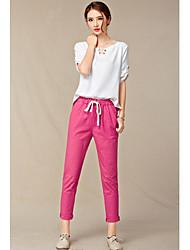 El resorte y el algodón de imitación del verano harem jadean pantyhose los pantalones elásticos grandes de la cintura jadean los
