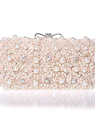 L.WEST hand bag diamond diamond Chiffon Evening Bag