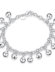 Exquisite Simple Silver Plated Doraemon Ball Pendant Chain & Link Bracelets Jewellery for Women Accessiories