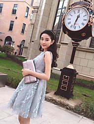 2016 nouvelle robe de soirée courte jupe tutu robe grise robe de demoiselle d'honneur paragraphe vrai coup soeur