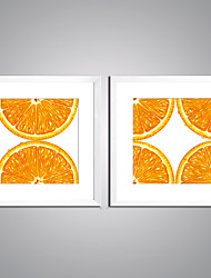 Framed Canvas Print  Fruits Picture Printed on Canvas Orange Giclee Print Contemporary Still Life Art for Wall Decor