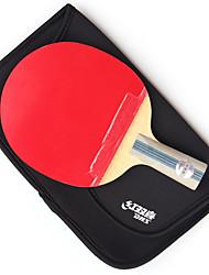 5 Звезд Ping Pang/Настольный теннис Ракетки Ping Pang дерево Короткая рукоятка Прыщи