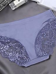 Women's Lace Solid C-strings PantiesNylon Spandex