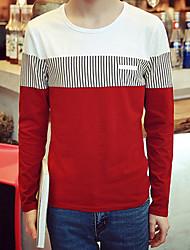 -p30- hommes nouvelle mode couture manches longues t-shirt supermarché café hh