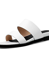 Women's Slippers & Flip-Flops Summer Fall Slingback Cowhide Office & Career Party & Evening Dress Flat Heel