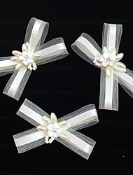 Acrilíco Rede Capacete-Casamento Ocasião Especial Casual Flores Véus de Rede Clip para o Cabelo Molas 3 Peças