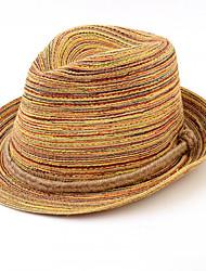 Для женщин Винтаж На каждый день Соломенная шляпа,Лето Соломка Пэчворк