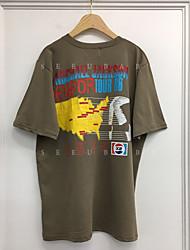 Юг корея торговый x2 раунд шея короткий рукав футболка печать ремонт