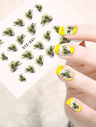 10pcs/set Hot Summer Nail Art Water Transfer Decals Beautiful Feather Design Nail DIY Beauty Tip STZ-041