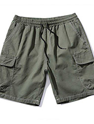 Men's Low Rise Micro-elastic Shorts Pants,Simple Straight Solid