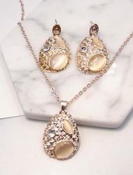 Set de Bijoux Mode euroaméricains Alliage Larme 1 Collier 1 Paire de Boucles d'Oreille Pour Soirée Quotidien 1 Set Cadeaux de mariage